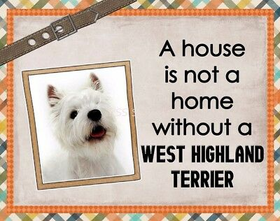WESTIE - WEST HIGHLAND TERRIER Custom Magnet Using YOUR Photo House Home