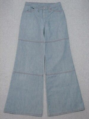 "LH11429 VERY COOL VINTAGE 1960s **TURTLE BAX** BELLBOTTOM JEANS  (msr 26""x30"")"