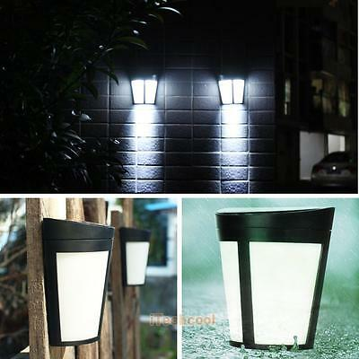 6 LED Bright Solar Powered Light Security Wall Garden Light Outdoor Fence Lamp