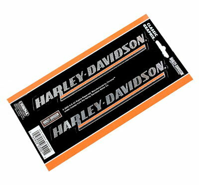 Harley Davidson 2 Piece Slim Classic Graphix Decal Chrome Finish Made In Usa