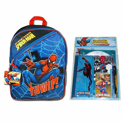 H11inxW8in Marvel The Amazing Spider-Man Kids Boys Book-bag Backpack NWT