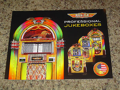 2010 Rock-Ola Professional Jukebox Brochure Mint! 12 Pages