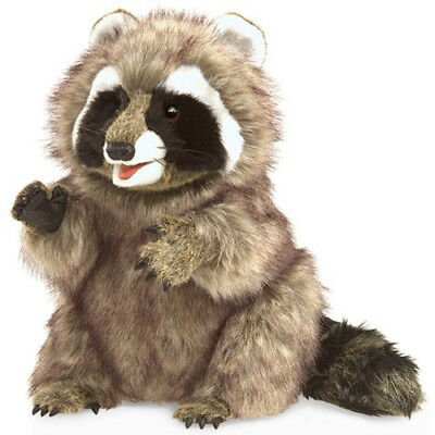 New FOLKMANIS Hand PUPPET Soft Plush Toy WILD RACCOON Stuffed Farm Animal