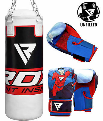 RDX Punching Bag Junior Fitness Leather Training Youth Sports MMA Punch AU