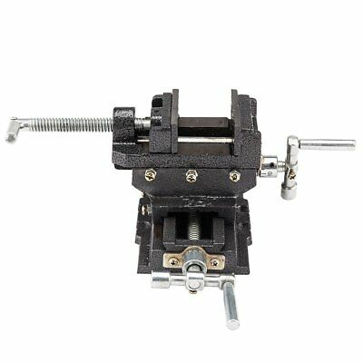 "5"" Cross Drill Press Vise Slide Metal Milling 2 Way X-Y Clamp Machine Heavy Duty"