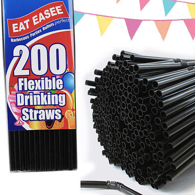 "Paper Wrapped Striped Jumbo Straws 6mm 8/"" Bendy Choose 20-50-100-200 Hygenic"