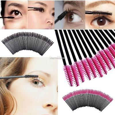 50 Pcs Disposable Mascara Brushes Wands Lashes Eyelash Extension 2 Colors Hot SH