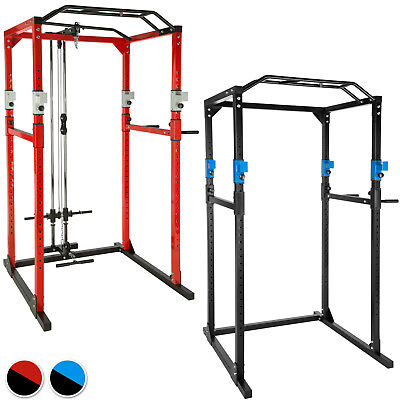 Kraftstation Fitnessstation Power Rack Power Cage Klimm Dip Kniebeuge Robust