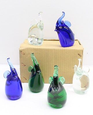 NEW Wholesale Job Lot Gifts Giftware 48 x Glass Elephant Figurines FREE P&P