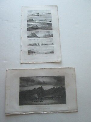 "(2) 1874 Etchings From Findlay's ""directory For Navigating South Pacific Ocean"""