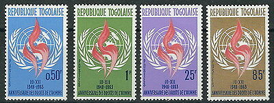 Togo - Announcement of the Human rights Set mint 1963 Mi. 381-384