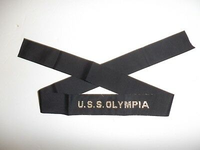 0538 USS Olympia Hat Tally US Navy IR31A