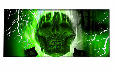 Silent Monsters Gaming und Office Mauspad XXL (90 x 40 cm), Design: Green Skull