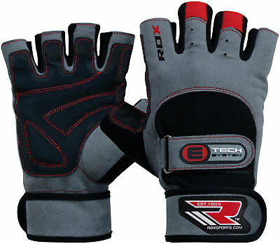 RDX Weight lifting Gym Gloves Training Fitness Body Building Wrist Grip Fitness