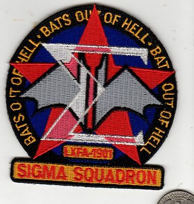 Babylon Five 5 Sigma Squadron Patch Bats Out of Hell Bat Red Star TV Series