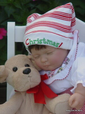 New OOAK  ~ Berenguer ~ 16 Inch  * Sleeping Christmas Baby Doll