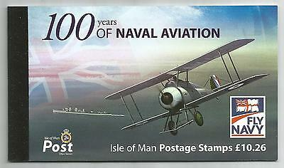 Isle Of Man 2009 £10.26 Naval Aviation Booklet Sb71