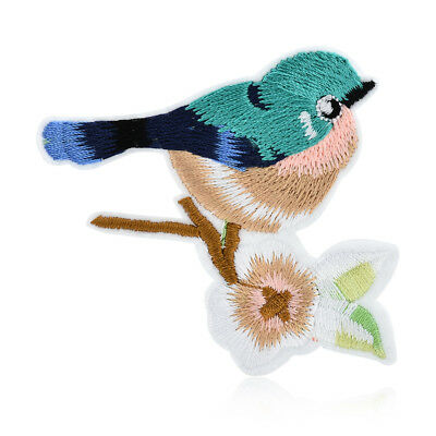 2PCS Lot Flower Birds Sewing & Iron on Embroidery Applique Cloth DIY Patch Badge