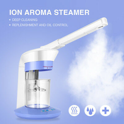 2In 1 Face Steamer Salon Spa Ozone Steaming Ion Sparyer Skin Beauty Care Machine