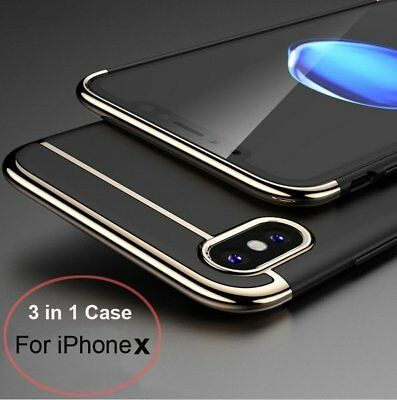 For iPhone X Case Luxury Ultra thin Hybrid Shockproof Armor Back Hard Cover Skin