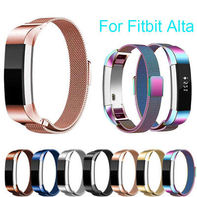 Replacement Stainless Steel Silicone Wristband Band Strap For Fitbit Alta/AltaHR