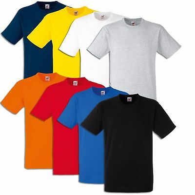 5er 10er Fruit of the Loom T-SHIRT HEAVY COTTON S M L XL XXL SCHWERE QUALITÄT
