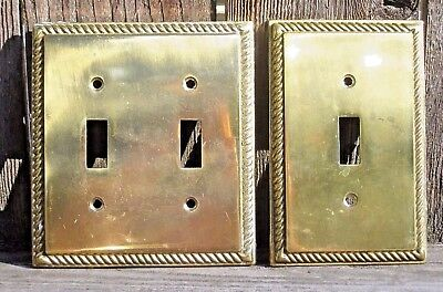 Vintage Brass Electric Wall Single/Double Switch Plate Covers Hollywood Regency