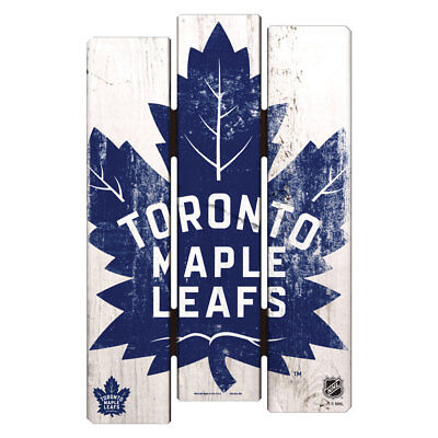 NHL Eishockey TORONTO MAPLE LEAFS Wood Sign Holzschild Holz Fence