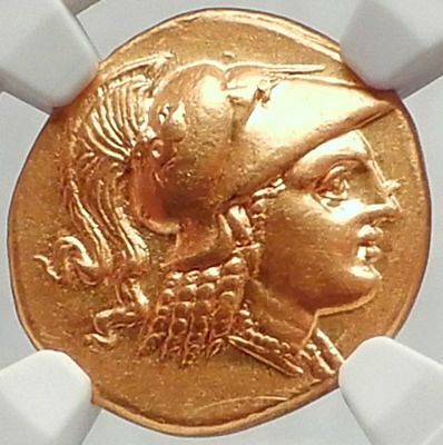 ALEXANDER III the GREAT 323BC Gold Stater Authentic Ancient Greek Coin NGC Ch AU