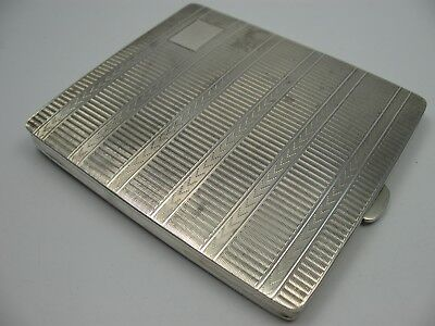 Chester England 1925 Very Massive Cigarette Case from 925 Silver 163 Grams