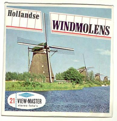vintage SAWYERS View Master HOLLANDSE WINDMOLENS foreign MADE IN BELGIUM dutch !