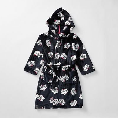Girls size 2 Cats soft fleece Dressing Gown with hood Target NEW