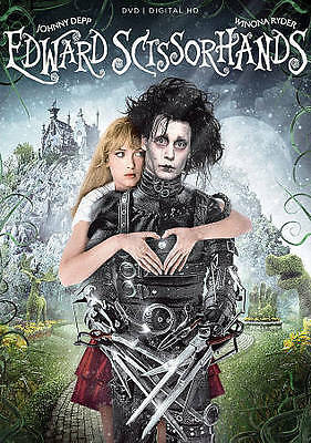 1990 Edward Scissorhands Johnny Depp Winona Ryder NEW DVD 25th Anniversary Ed