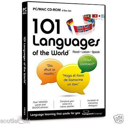 101 Languages of the World CD ROM For PC/Mac - Learn to Speak French German etc