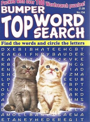 3 Bumper Word Search Magazines Most With 100+ Puzzles Solutions In Back (Set 62)