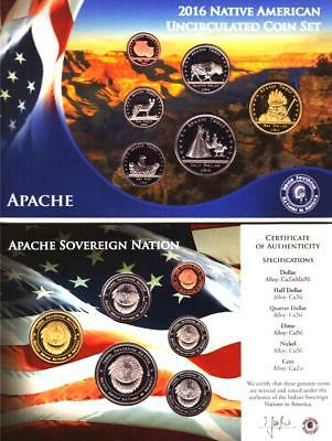 2016 1,91 $ Apache Indianer Sovereign Nation-Satz, CN-St