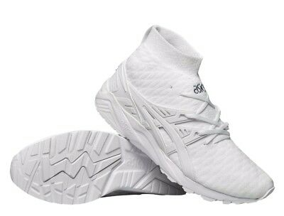 official photos ca948 2d571 ASICS GEL KAYANO Trainer Knit MT White Lyte III 3 5 V H7P4N-0101 Mens 8-13