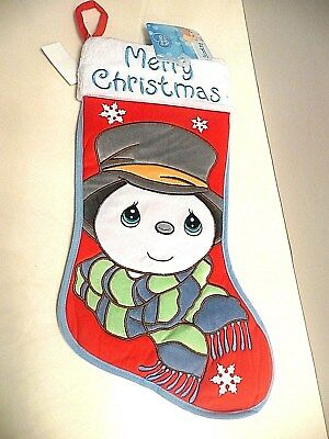"""Precious Moments 19"""" Christmas Stocking  New with Tag  CUTE!!"""