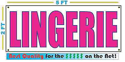 LINGERIE Full Color Banner Sign NEW Larger Size Best Quality for the $$$