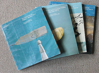 Complete 4-Part Catalog Set of Barbara Johnson Whaling Sotheby's Sale/1981-1983
