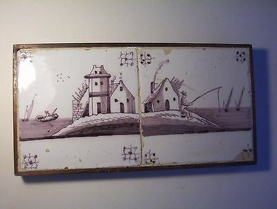 Two framed Delft Tile c. 18th  century   (a)