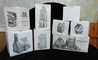 7 Misc Lot of Dept 56 Porcelain Heritage Village Collection Holiday Pieces