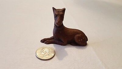 Miniature Resin DOBERMAN PINSCHER Dog Figurine - less than 3""