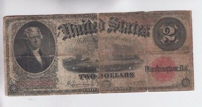 Legal Tender $2 1917 one old note lower grade