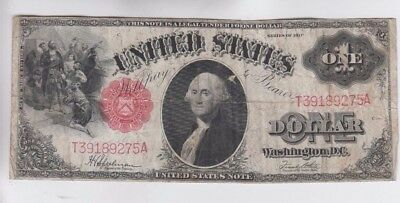 Legal Tender $1 1917 one old note fine stains paper pull