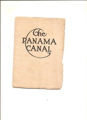 1913 booklet The Panama Canal, advertises Sanders Operating Panama Canal