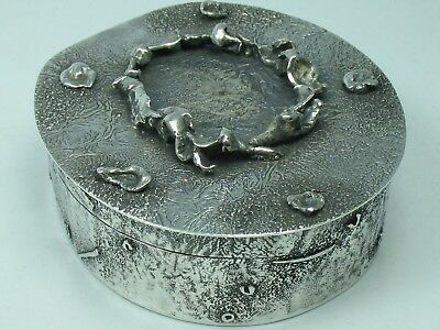 Handmade Top Exceptional Large Snuffbox Snuffbox Silver