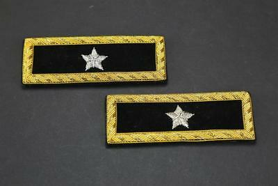 US Civil War Repro 1 Star Brigadier General Embroidered Black Shoulder Boards