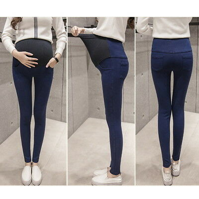 US Pregnant Maternity Adjustable High Waist Pant Women Elastic Oversized Legging