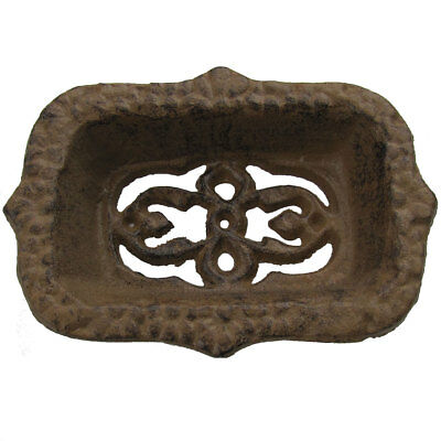 Cast Iron Antique Style Ornate Bathroom Soap Dish French Country Chic Bath Decor